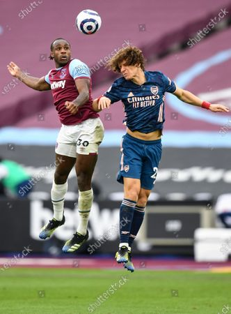 Editorial picture of West Ham United v Arsenal, Premier League, Football, The London Stadium, London, UK - 21 Mar 2021