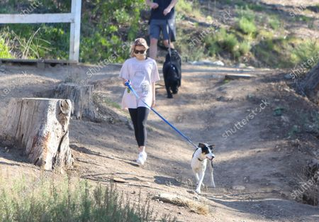 Ava Phillippe and out for a hike