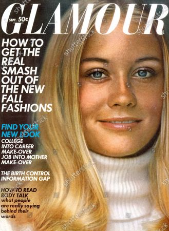 Glamour September 01, 1969 Magazine Cover featuring: Cybill Shepherd wearing makeup from Geminesse by Max Factor and white turtleneck sweater by Patti Cappalli for Addenda. Cybill Shepard