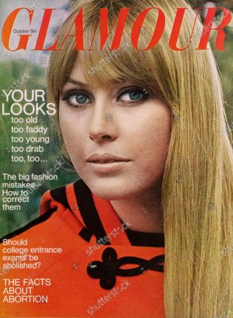 Glamour October 01, 1966 Magazine Cover featuring: Claudia Duxbury wearing coat by Mademoiselle Arlette for Joan Arkin. Claudia Duxbury
