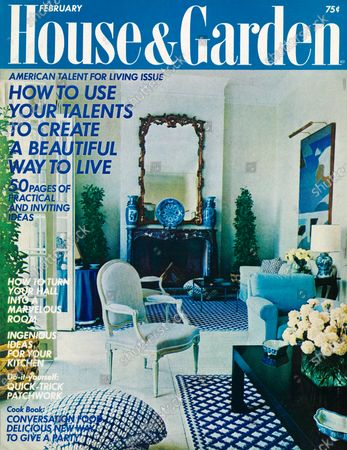 Editorial photo of House & Garden February 01, 1971 Cover, Saint-Jean-Cap-Ferrat, France