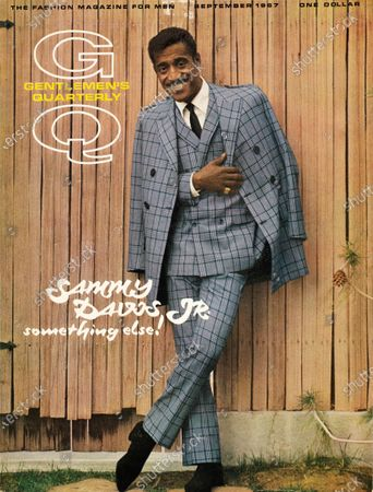 GQ September 01, 1967 Magazine Cover featuring: Entertainer Sammy Davis wearing vested double-breasted plaid suit by Sy Devore. Sammy Davis Jr.