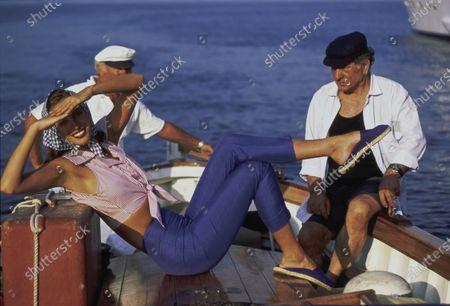 Editorial picture of Vogue December 01, 1992 Fashion Feature, Portofino, Italy