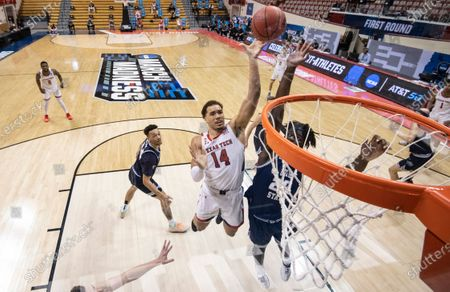 Editorial picture of NCAA Utah St Texas Tech Basketball, Bloomington, United States - 19 Mar 2021