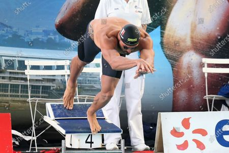 Florent Manaudou of CN Marseille, series 50 m freestyle Men