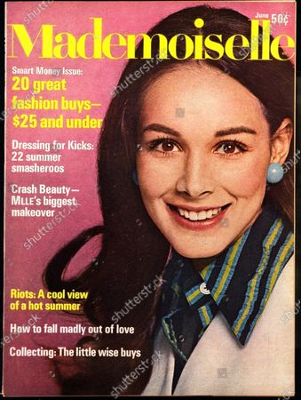 Mademoiselle June 01, 1968 Magazine Cover featuring: Model wearing Coty makeup and Frank Smith shirt and vest. Joan Greenwood