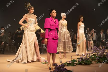 Princess of Thailand Sirivannavari Nariratana attends the NEFRERETTA'S (Neferretta) collection show during the Sirivannavari Spring-Summer 2021 at Siam Paragon Shopping Center.