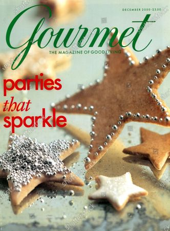 Gourmet December 01, 2000 Magazine Cover featuring: Parties that sparkle - Cinnamon cookies with silver decoration.