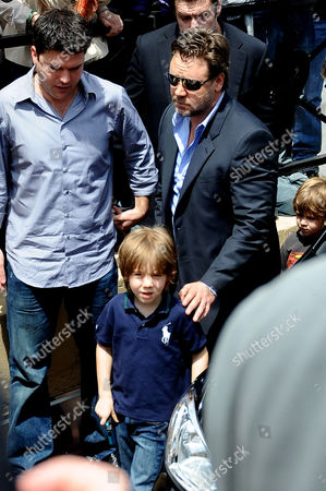 Russell Crowe and son Tennyson