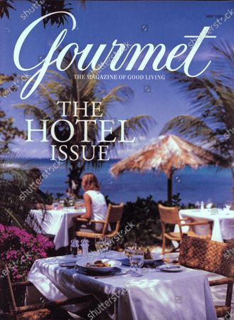 Gourmet May 01, 1999 Magazine Cover featuring: Sun-splashed lunch at Rosewood's Little Dix Bay, Virgin Gorda, British Virgin Islands.