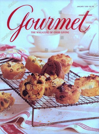 Gourmet January 01, 1999 Magazine Cover featuring: A melange of muffins cooling for breakfast.