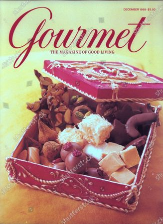 Gourmet December 01, 1998 Magazine Cover featuring: Homemade holiday candies with handmade sugar box by Margaret Braun.
