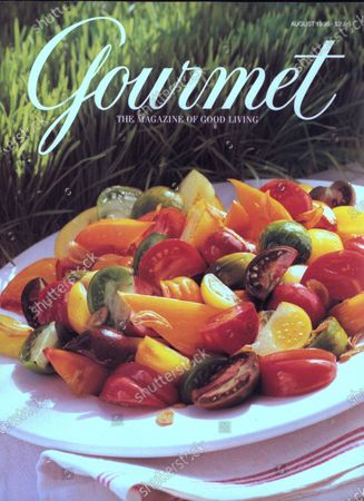 Gourmet August 01, 1998 Magazine Cover featuring: Heirloom tomato salad.
