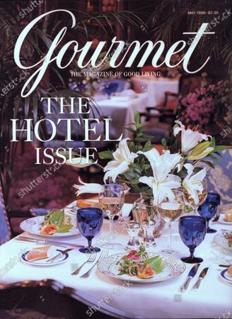 Gourmet May 01, 1998 Magazine Cover featuring: Table set for Mother's Day brunch at the Ritz-Carlton, Chicago, with artichoke ragout and mixed greens.