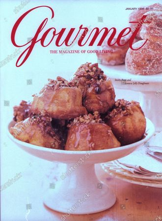 Gourmet January 01, 1998 Magazine Cover featuring: Sweet sticky buns and Viennese jelly doughnuts.