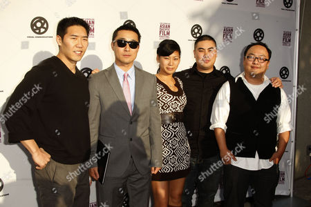 Stock Picture of Cast of K-Town Cowboys Lanny Joon, Daniel Park - Director, Lillian Ng, Sunn Wee, Danny Cho