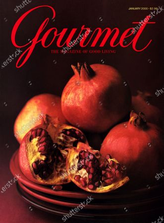 Gourmet January 01, 2000 Magazine Cover featuring: Pomegranates representing the romance and mystery of winter.