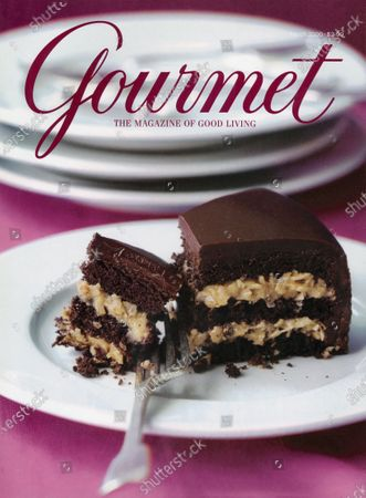 Gourmet March 01, 2000 Magazine Cover featuring: Inside-out German chocolate cake.