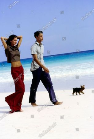 Editorial photo of Vogue April 01, 1999 Fashion Feature, Harbour Island, Bahamas