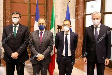 Giangarlo Giorgetti, Giulio Ranzo, Stephen Israel, Bruno Le Maire
