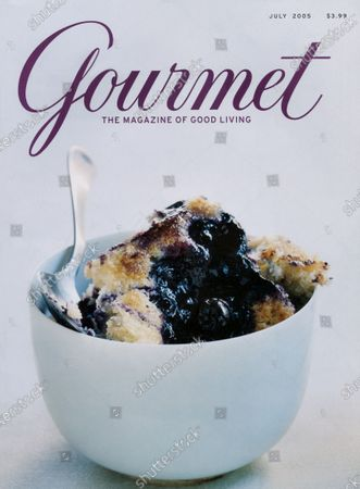Gourmet July 01, 2005 Magazine Cover featuring: Blueberry Pudding Cake.