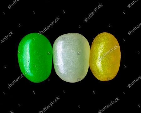 Three Jelly Beans in a row.