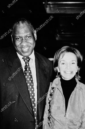 Former Vogue editor Andre Leon Talley stands with Lee Radziwill. Andre Leon Talley, Lee Radziwill