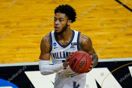 Villanova guard Justin Moore (5) plays against Winthrop in the first half of a first round game in the NCAA men's college basketball tournament at Farmers Coliseum in Indianapolis