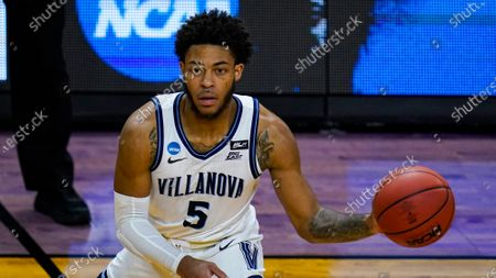 Villanova guard Justin Moore (5) plays against Winthrop in the second half of a first round game in the NCAA men's college basketball tournament at Farmers Coliseum in Indianapolis