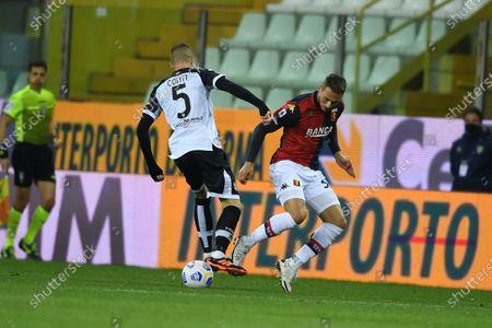 "Andrea Conti (Parma)Marko Pjaca (Genoa)           during the Italian ""Serie A"" match between Parma 1-2 Genoa at  Ennio Tardini Stadium in Parma, Italy."