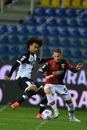 "Joshua Zirkzee (Parma)Marko Pjaca (Genoa)           during the Italian ""Serie A"" match between Parma 1-2 Genoa at  Ennio Tardini Stadium in Parma, Italy."