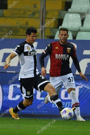 "Yordan Osorio (Parma)Marko Pjaca (Genoa)           during the Italian ""Serie A"" match between Parma 1-2 Genoa at  Ennio Tardini Stadium in Parma, Italy."