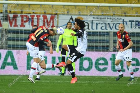 "Valon Behrami (Genoa)Joshua Zirkzee (Parma)           during the Italian ""Serie A"" match between Parma 1-2 Genoa at  Ennio Tardini Stadium in Parma, Italy."