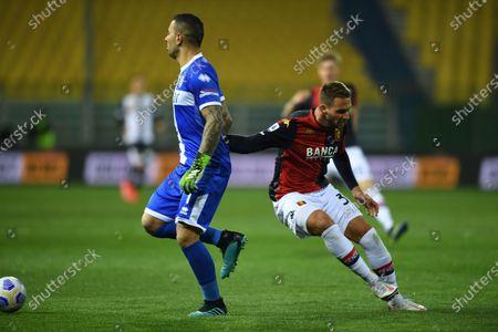 "Luigi Sepe (Parma)Marko Pjaca (Genoa)           during the Italian ""Serie A"" match between Parma 1-2 Genoa at  Ennio Tardini Stadium in Parma, Italy."