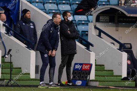Gary Rowett of Millwall in action during the Sky Bet Championship, Championship match between Millwall and Middlesbrough at The Den in London - 20th March 2021