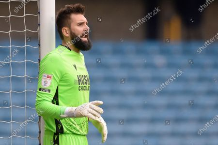 Bartosz Bialkowski of Millwall  in action during the Sky Bet Championship, Championship match between Millwall and Middlesbrough at The Den in London - 20th March 2021
