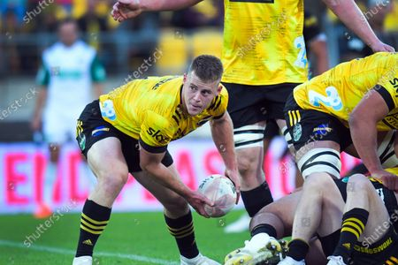 Hurricanes' Luke Campbell in action