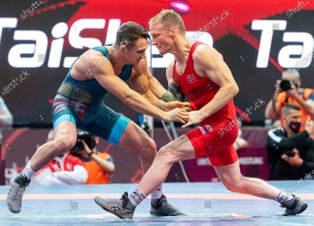 Editorial photo of European Wrestling Olympic Qualification Tournament in Budapest, Hungary - 20 Mar 2021
