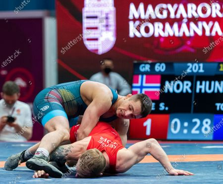 Editorial image of European Wrestling Olympic Qualification Tournament in Budapest, Hungary - 20 Mar 2021