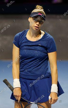 Vera Zvonareva of Russia reacts during her semifinal match against Margarita Gasparyan of Russia at the St.Petersburg Ladies Trophy 2021 WTA tennis tournament in St.Petersburg, Russia, 20 March 2021.