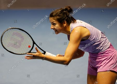 Margarita Gasparyan of Russia reacts during her semifinal match against Vera Zvonareva of Russia at the St.Petersburg Ladies Trophy 2021 WTA tennis tournament in St.Petersburg, Russia, 20 March 2021.
