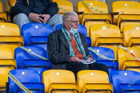 Stock Picture of Ex-pundit John Motson during the EFL Sky Bet League 1 match between AFC Wimbledon and Charlton Athletic at Plough Lane, London