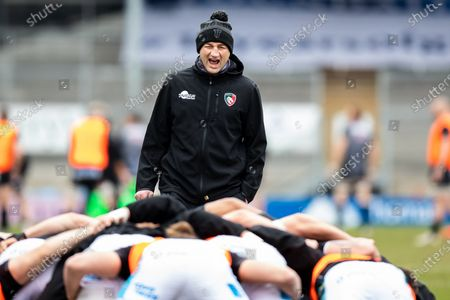 Head Coach Steve Borthwick of Leicester Tigers during the pre match warm up - Gallagher Premiership Rugby match between Exeter Chiefs and Leicester Tigers at Sandy Park, Exeter