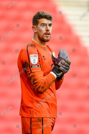 Goalkeeper Alex Palmer (#1) of Lincoln City FC during the EFL Sky Bet League 1 match between Sunderland and Lincoln City at the Stadium Of Light, Sunderland