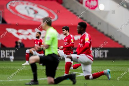 Liam Walsh of Bristol City takes a knee