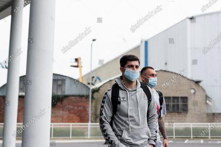 Liam Walsh and Jack Hunt of Bristol City arrive