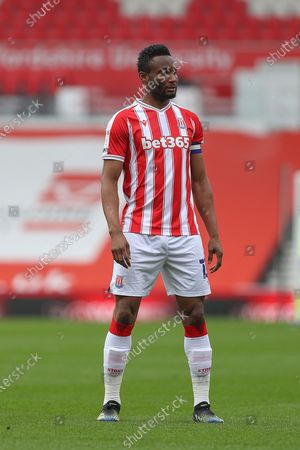 Stoke City midfielder Mikel John Obi (13) during the EFL Sky Bet Championship match between Stoke City and Derby County at the Bet365 Stadium, Stoke-on-Trent