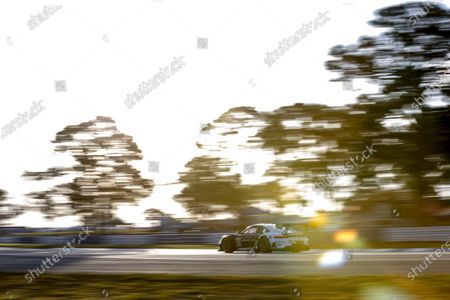 Stock Photo of SEBRING INTERNATIONAL RACEWAY, UNITED STATES OF AMERICA - MARCH 20: #88 Team Hardpoint EBM Porsche 911 GT3R, GTD: Katherine Legge, Christina Nielsen, Bia Figueiredo during the Sebring 12 Hours at Sebring International Raceway on March 20, 2021 in Sebring International Raceway, United States of America. (Photo by Jake Galstad / LAT Images)