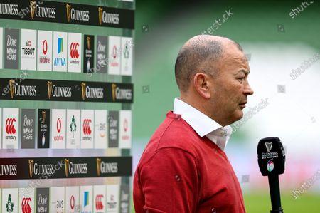 Ireland vs England. England Head Coach Eddie Jones with the media ahead of the game