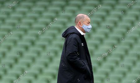 Ireland vs England. England's head coach Eddie Jones